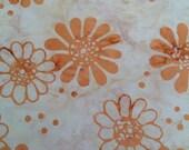 Peach Dot Batik Gypsy Wrap, size M or L - yoga headband, hair wrap, dread wrap, pre tied bandana