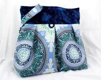 Slouch Bag, Large Purse, Sandi Henderson, Secret Garden, Garden Gate, Diaper Bag, Library Bag, Grocery Tote, Handmade Craft Bag, Carry All