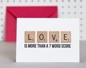 Love Scrabble - Valentine's Anniversary Card