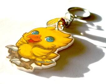 final fantasy chocobo Chibi Charm keychain