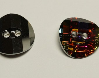 Vintage Swarovski 14mm Volcano 3016 Crystal Button (2)