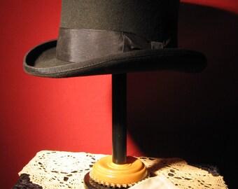 Wool Felt Top Hat- Black Sz Sm, Md, L, & XL