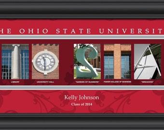 Ohio State Personalized Campus Art