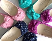 Polka Dot Baby Shoes Toddler Shoes Baby Girl Shoes Soft Sole Shoes Infant Shoes Pink Shoes Navy Shoes Easter Shoes Magenta Shoes- Mila