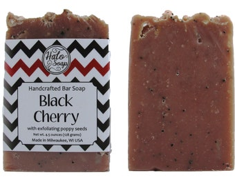Black Cherry Poppy Seed Bar Soap