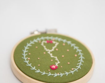 "3"" Flower Stethoscope Embroidery Hoop"