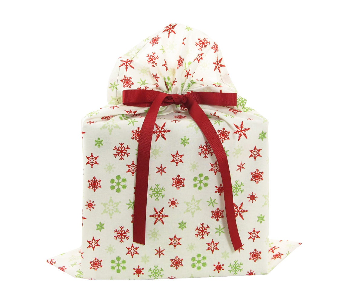 On sale large christmas gift bag with red and green by vzwraps