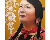 True Beauty - Jenny Blackbird - ART PRINT - 8 x 10 - By Toronto Portrait Artist Malinda Prudhomme