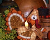 Primitive Patti's Ratties Thanksgiving Turkey Bird Doll Pattern 522
