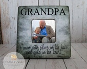 Custom Grandpa Picture Frame, Shabby Chic Frame, Fathers Day Gift, Personalized Frame