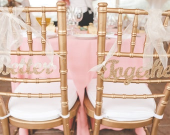 Gold Wedding Sign for Bride and Groom Chairs Better Together Custom Painted or DIY Unpainted Wooden Hanging Wedding Sweetheart Table Decor