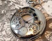 Silver Steampunk Pocket Watch