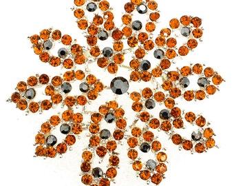 Topaz Flower Bridal Wedding Crystal Pin Brooch 1003871