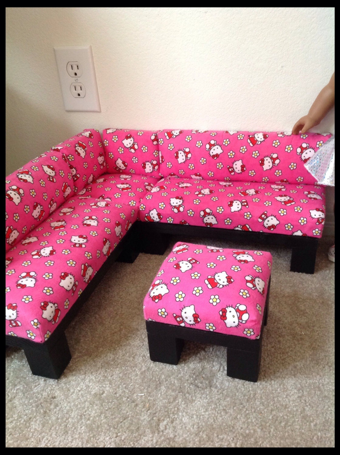 Hello Kitty Print Sectional Sofa Furniture Set With By Crixina