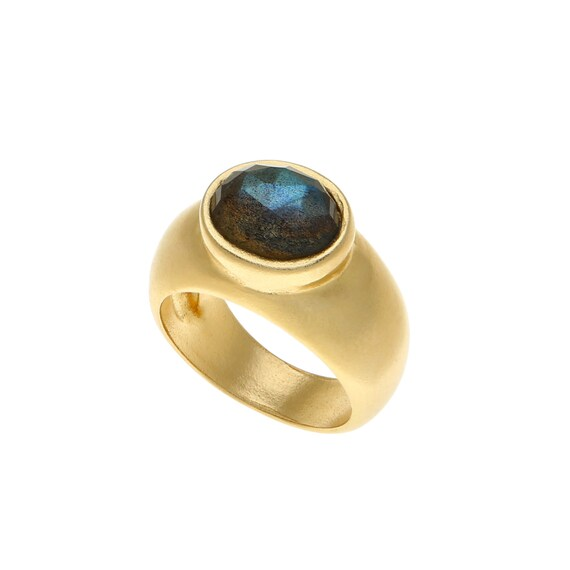 black stone gold ring-#14