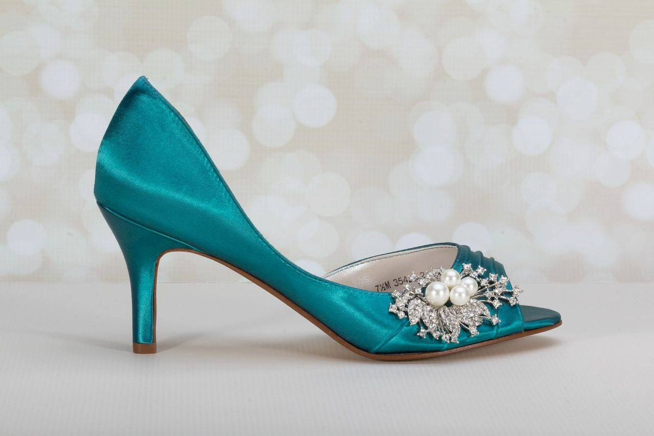 Images of Teal Bridal Shoes - Weddings Pro