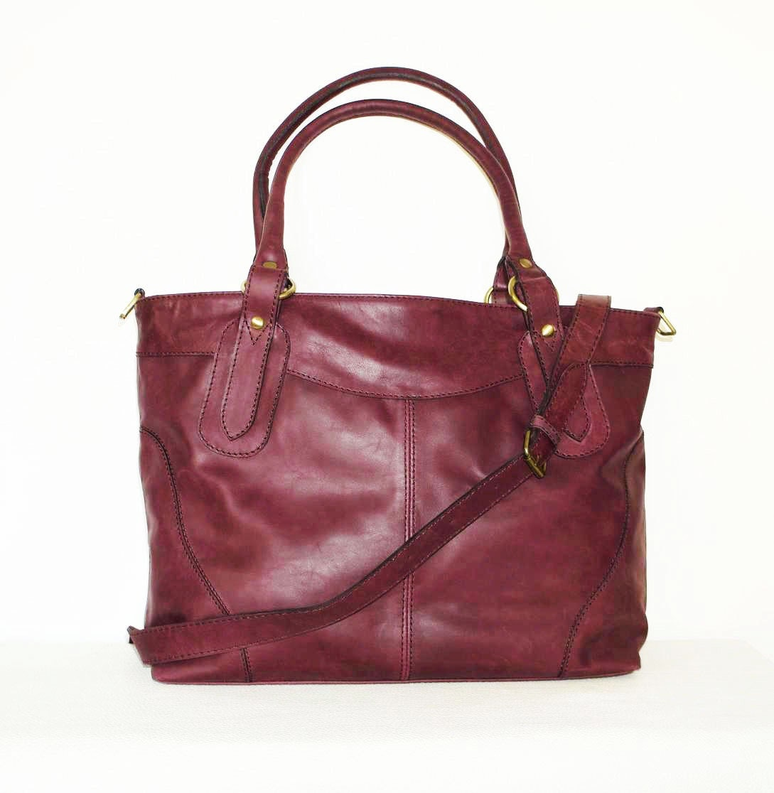 nora bis leather tote bag handbag leather by chicleather
