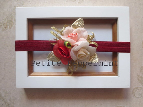 Red Baby Headband, Baby Bow Headband, Baby Hair Bow, Infant Headband, Toddler Headband, Girl Headband, Baby Head Band