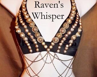 Fusion Bra, ATS Bellydance Coin Bra, Raven's Whisper