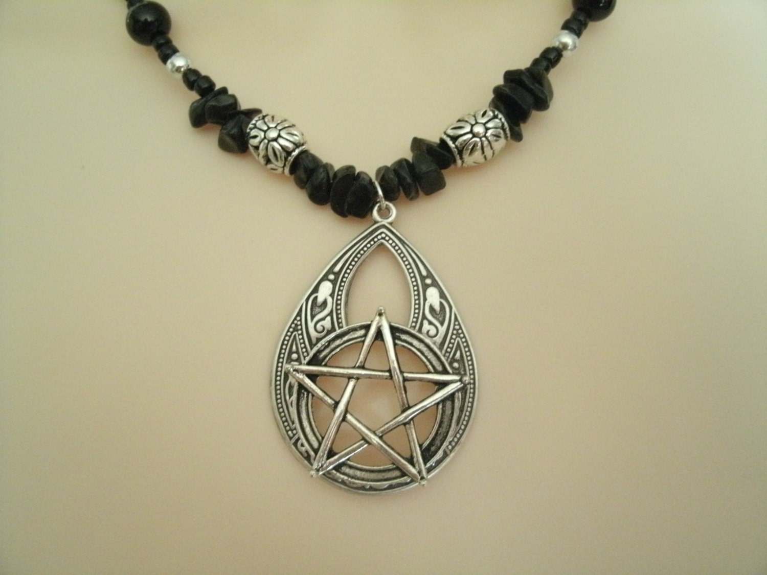 witch pentacle necklace wiccan jewelry pagan jewelry