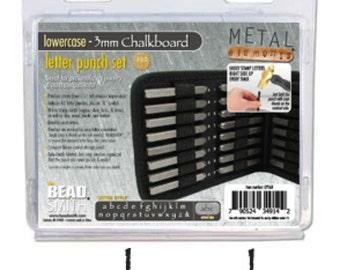 Metal Stamp Set-Metal Stamp Kit in Chalkboard (Papyrus) Font Lowercase Alphabet Metal Stamp 3mm by Metal Supply Chick Jewelry Stamping