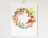 Happiness Wreath Print