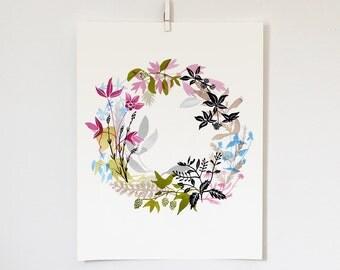 Harmony Wreath Print