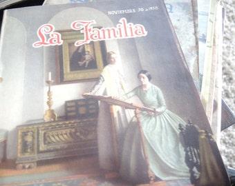 5 GORGEOUS 30s  LA FAMILIA magazines