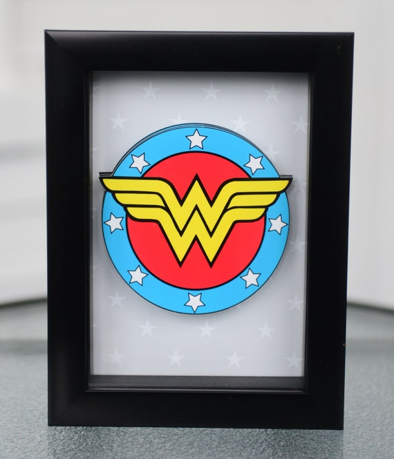 Items Similar To 3d Pop Out Wonder Woman Framed Art On Etsy