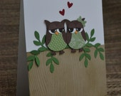 Happy Anniversary Card - greeting card, anniversary card for him, husband, wife, wedding card, owl always love you, lovebirds, owls in love