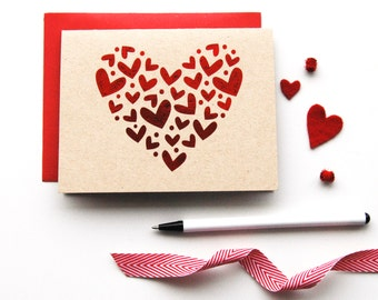 Foil Hearts  - Valentine's Day Card