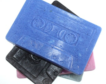 Cassette Tape Soap - old school, party favor, mix tape, audio, 1980s, 1990s, 1970s, music, stocking stuffer, pop star party, rock star