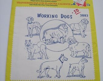 WORKING DOGS - Aunt Martha's Hot Iron Transfers - 3883 - Never Used