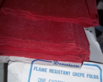 "vintage Valentine Red crepe paper, BIG PACKS St Patricks Green Crepe Dennison 20' x 90""  (each one 7 & half FEET) unused crepe paper"