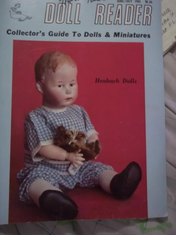vintage magazine oop DOLL READER magazine Collector Guide Pincushion Doll Shawn Cassidy Heubach dolls PAPERDOLLS doll clothes June July 1981