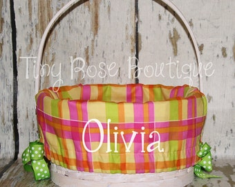 Pesonalized Easter Basket Liner - Custom Personalized Basket Liner - Name Included