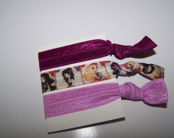 Ever After High Party Favors - Hair Ties - Girls Hair Ties - No Crease Hair Ties - Elastic Hair Bands