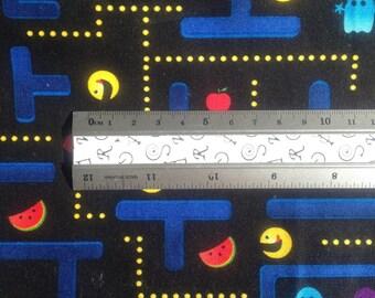 Quitling Fabric - Arcade Games - Pacman - Fat Quarter