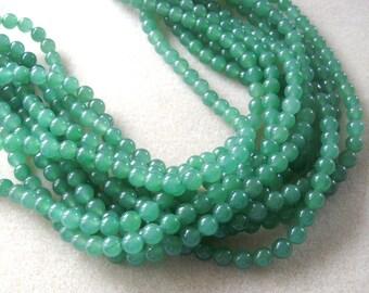 Green Aventurine, Jewelry Making Beads, Gemstone Beads, Semi Precious, Necklace Kit, Bead Supplies, Craft Supplies, Necklace Design