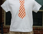 Child Tie Applique Shirt (0-7) in Amy Butler Lotus