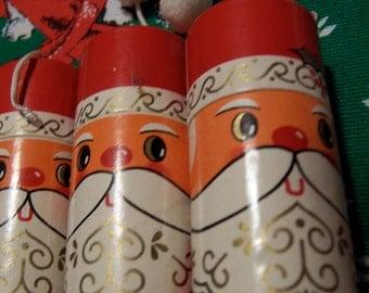 three little santa matchboxes