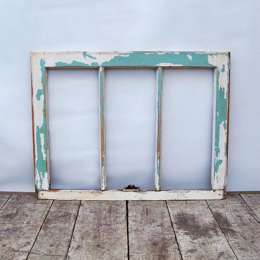 Vintage Shabby Distressed Wood Window Frame