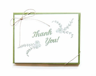 Anytime | Rustic Thank You Letterpress Card