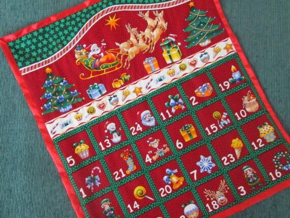 advent kalender weihnachten dekoration wandbehang von. Black Bedroom Furniture Sets. Home Design Ideas
