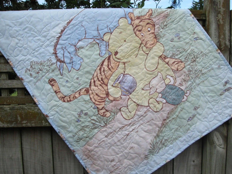 Baby Boy Quilt Classic Winnie The Pooh Crib Bedding