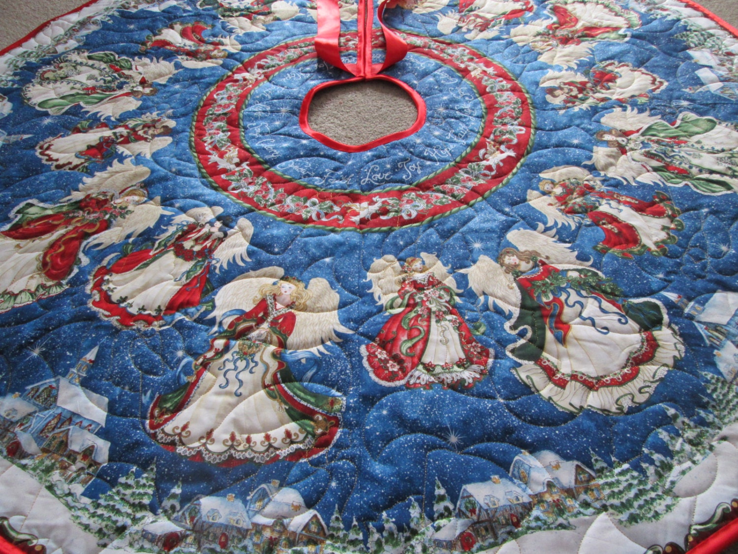 Christmas Tree Skirt Angels On High Quilted Tree Skirt Angel