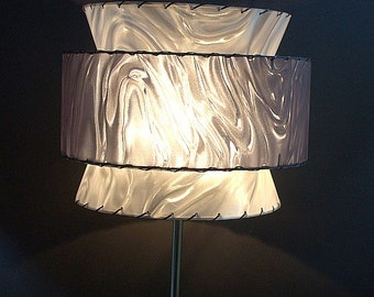 Mid Century Modern Lampshade - 3-tier shade is perfect for any vintage or modern decor