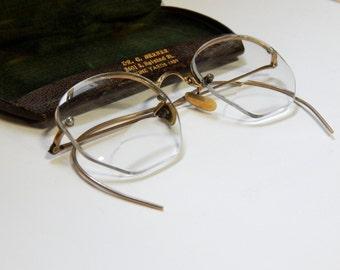 Antique Bi-focal Glasses w/ Original Case