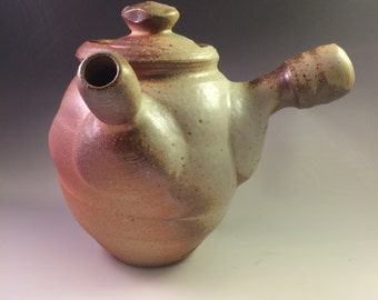 Toasty Brown and Shino Wood-Fired Teapot