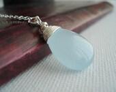 Aqua Bleu Jade Lariat Silver Lariat Necklace Blue Necklace Collier Lasso Avec Pierre Bleue Gift Idea Under 30